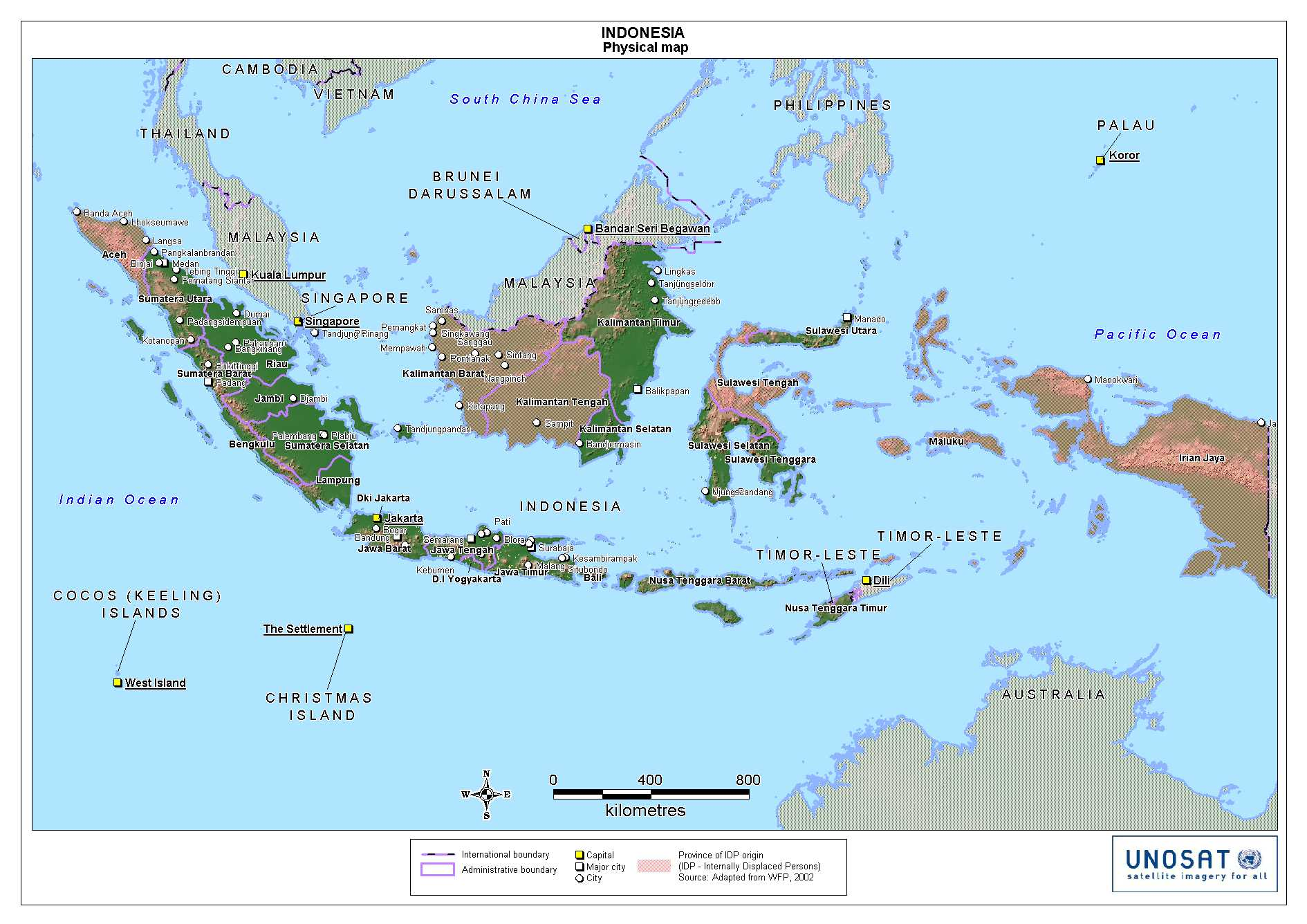 Picture of: Indonesia Physical Map 1 Mapsof Net