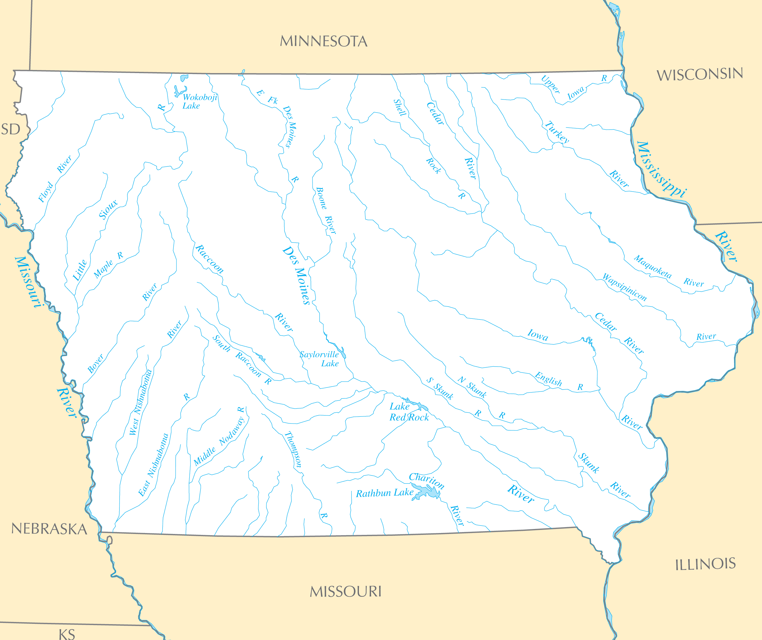 Related Keywords Amp Suggestions For Iowa Lakes And Rivers