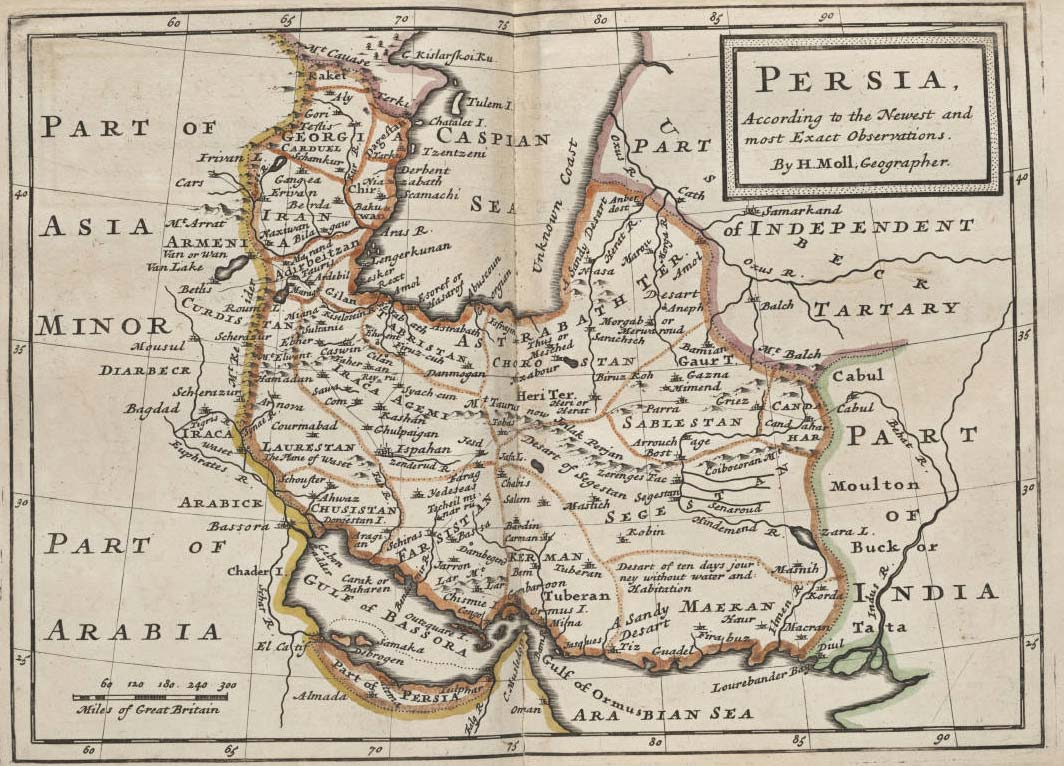 Iran Historical Map (persia)