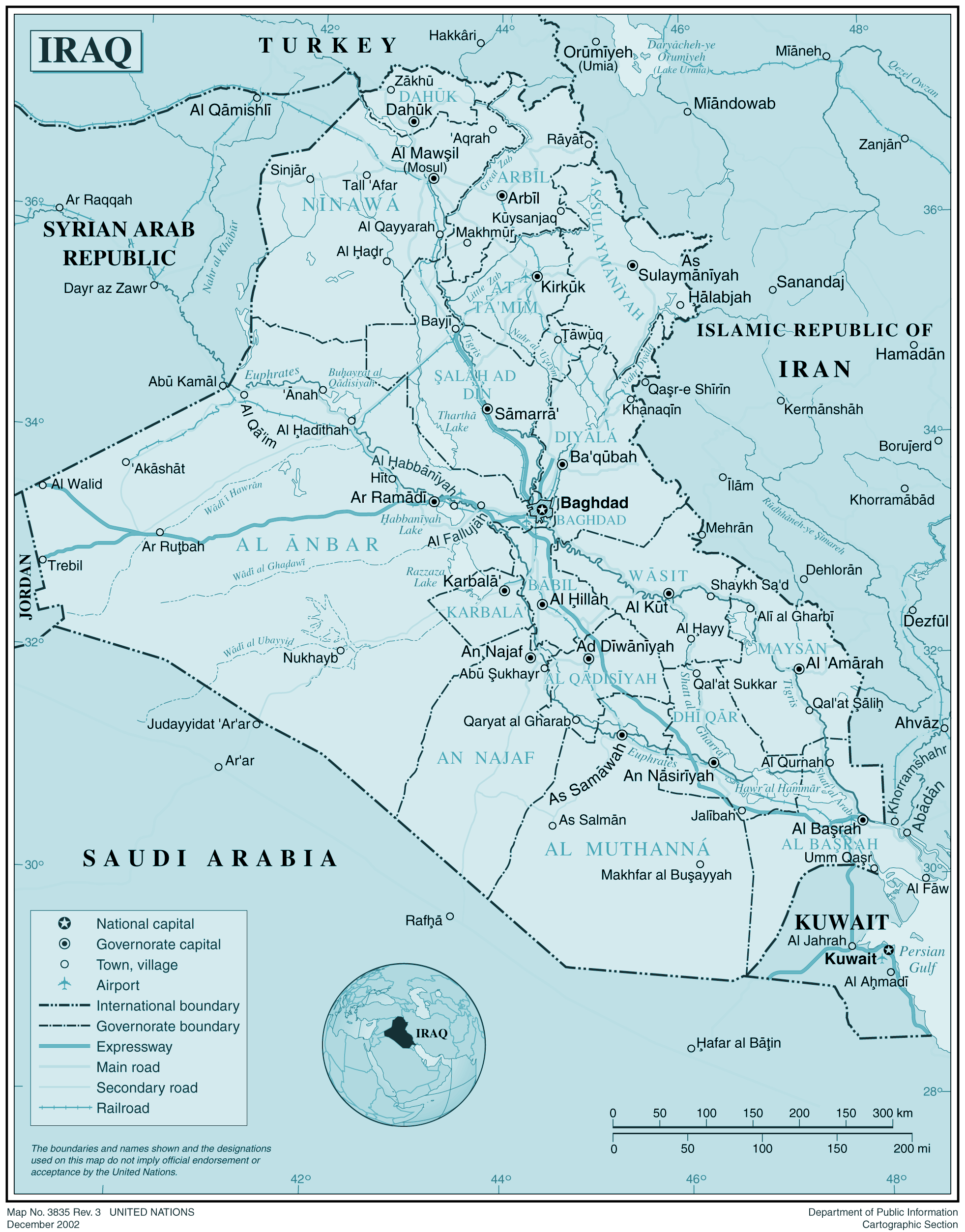 Iraq large map