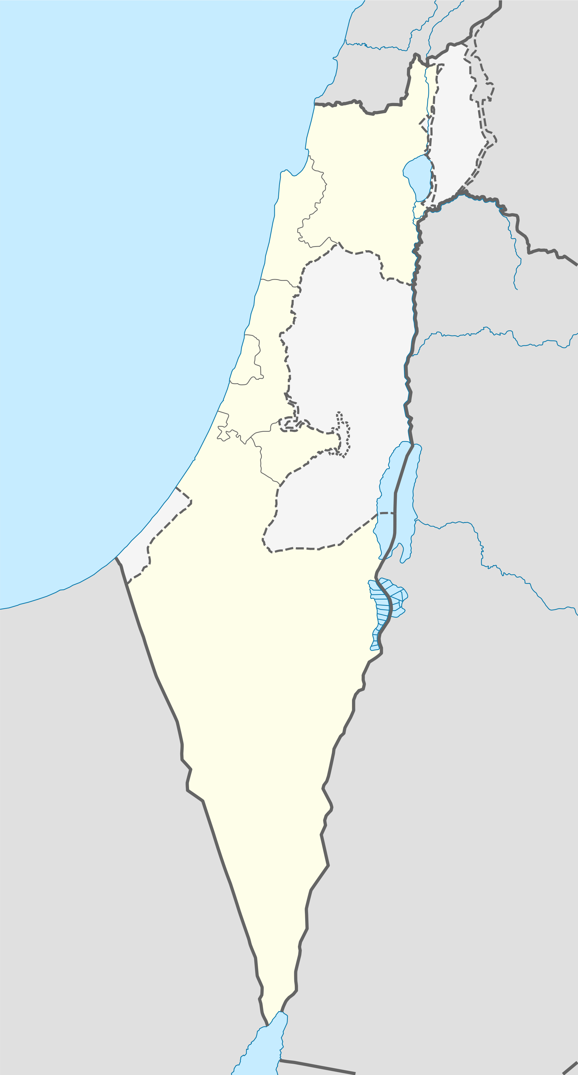 Israel Outline Map 1