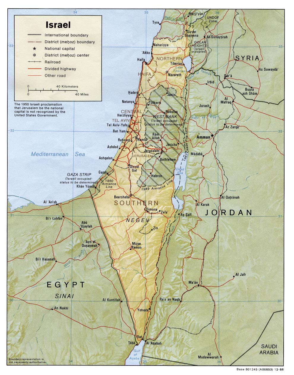 Israel Relief Map Jpeg large map