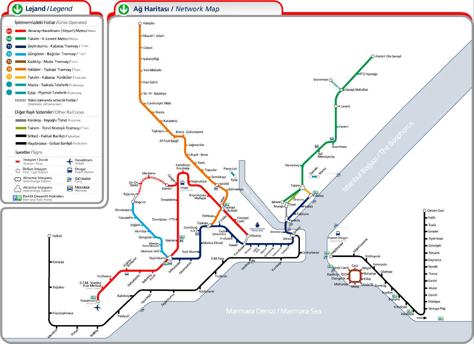 Istanbul Subway Map | Map Of Travel Maps Traveller
