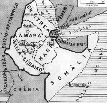 Italian East Africa Map | Ethiopia Maps