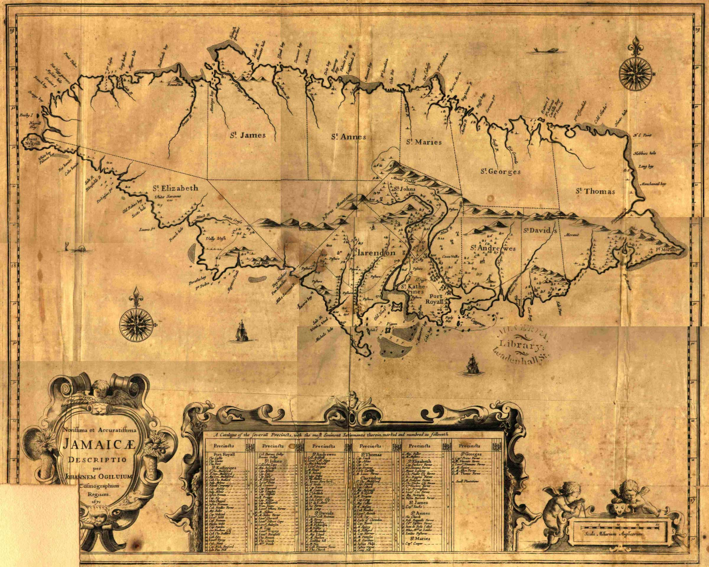 Jamaica1671ogilby large map