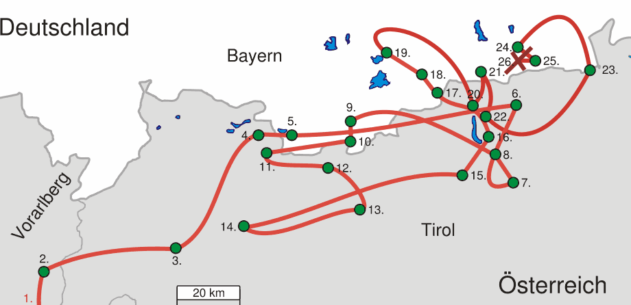 Jj1 Route large map