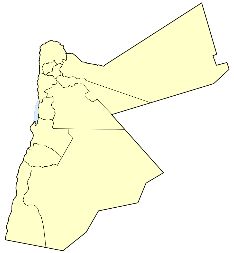 Jordan Governorates 1 large map