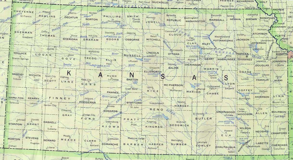 Kansas 90 large map