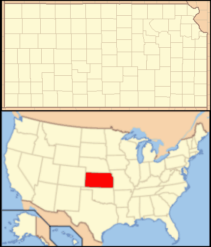 Kansas Locator Map With Us large map