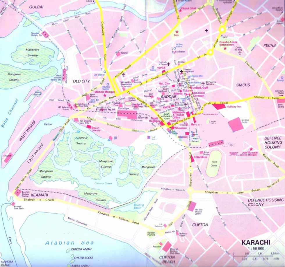 Karachi City Center large map