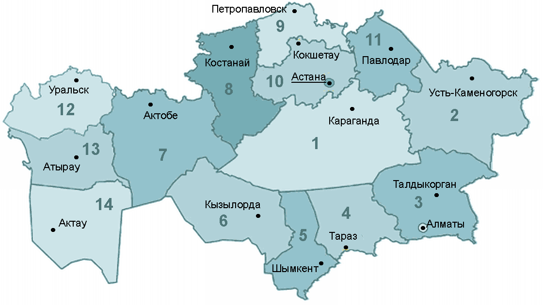 Kaz Oblast large map