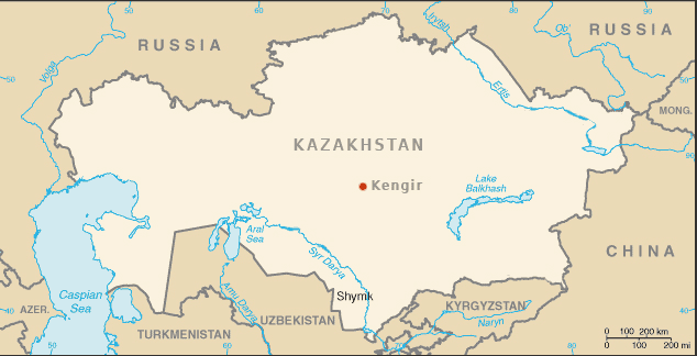Kazakhstan Kengir Camp 1 large map