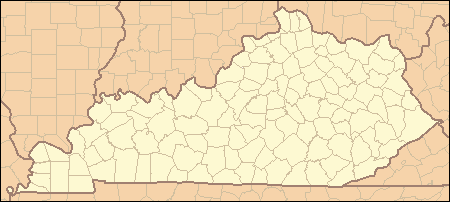 Kentucky Locator Map large map