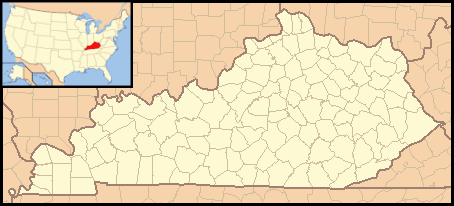 Kentucky Locator Map With Us large map