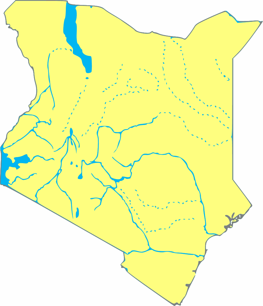 kenya svg map large map