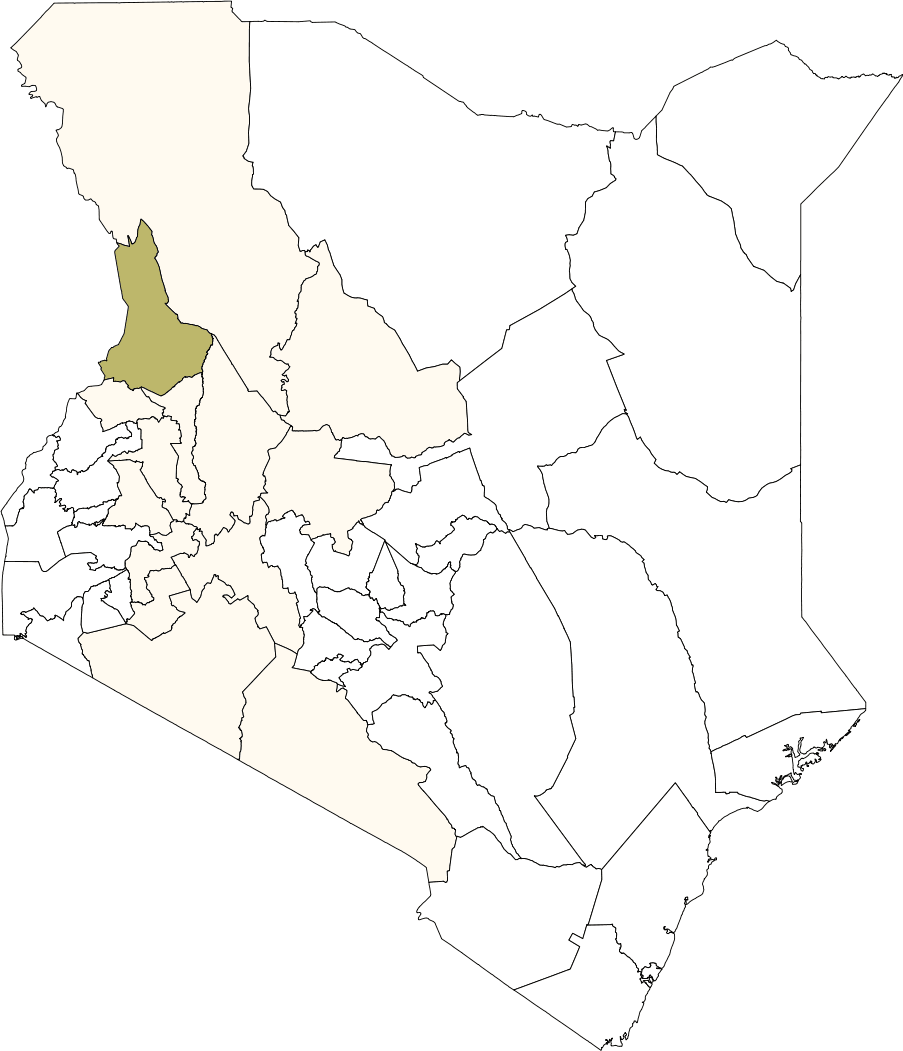 Kenya West Pokot District large map