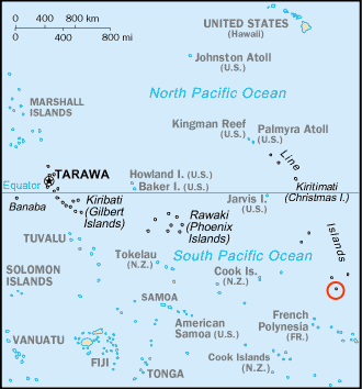 Kiribati Flint Highlighted large map
