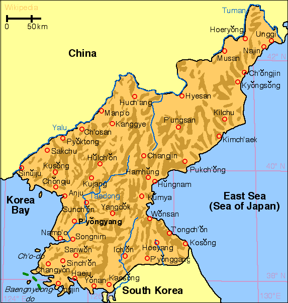 north korea map outline. North Korea maps.