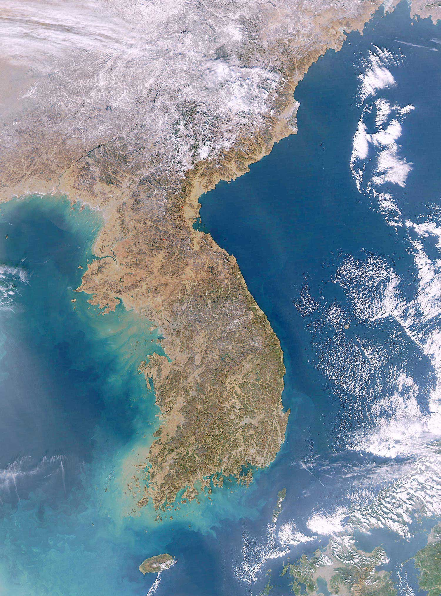 Korea Satellite Image large map