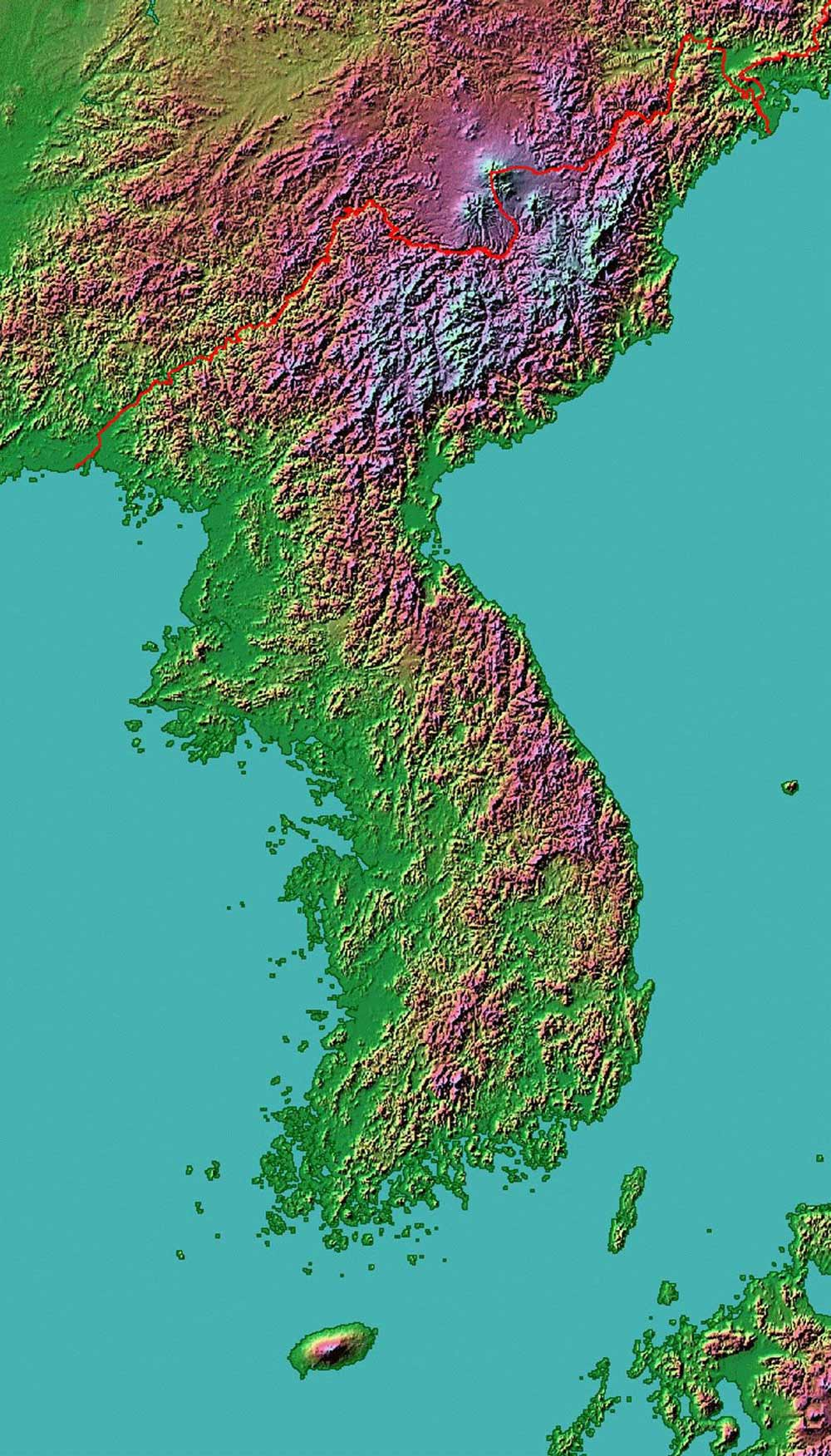 Korean Terrain large map