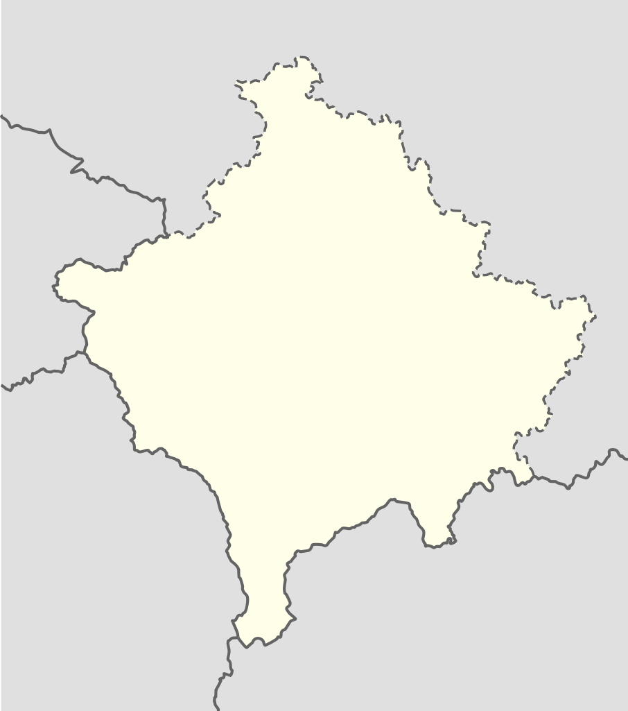 Kosovo Location Map Mapsofnet