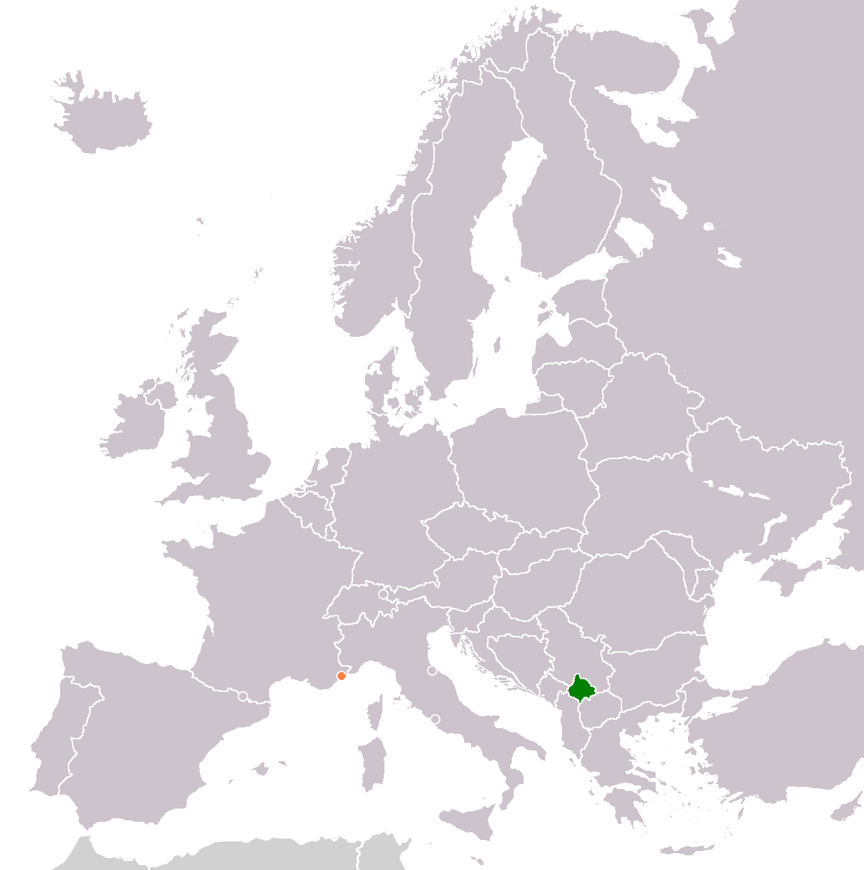 Kosovo Monaco Locator large map