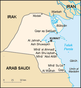 Kuwait Id large map