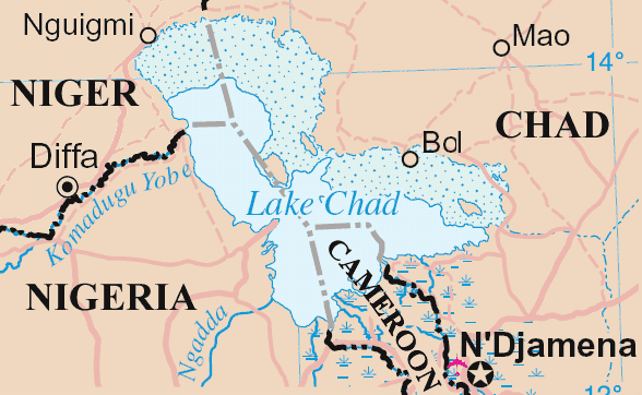 Lakechad Map large map