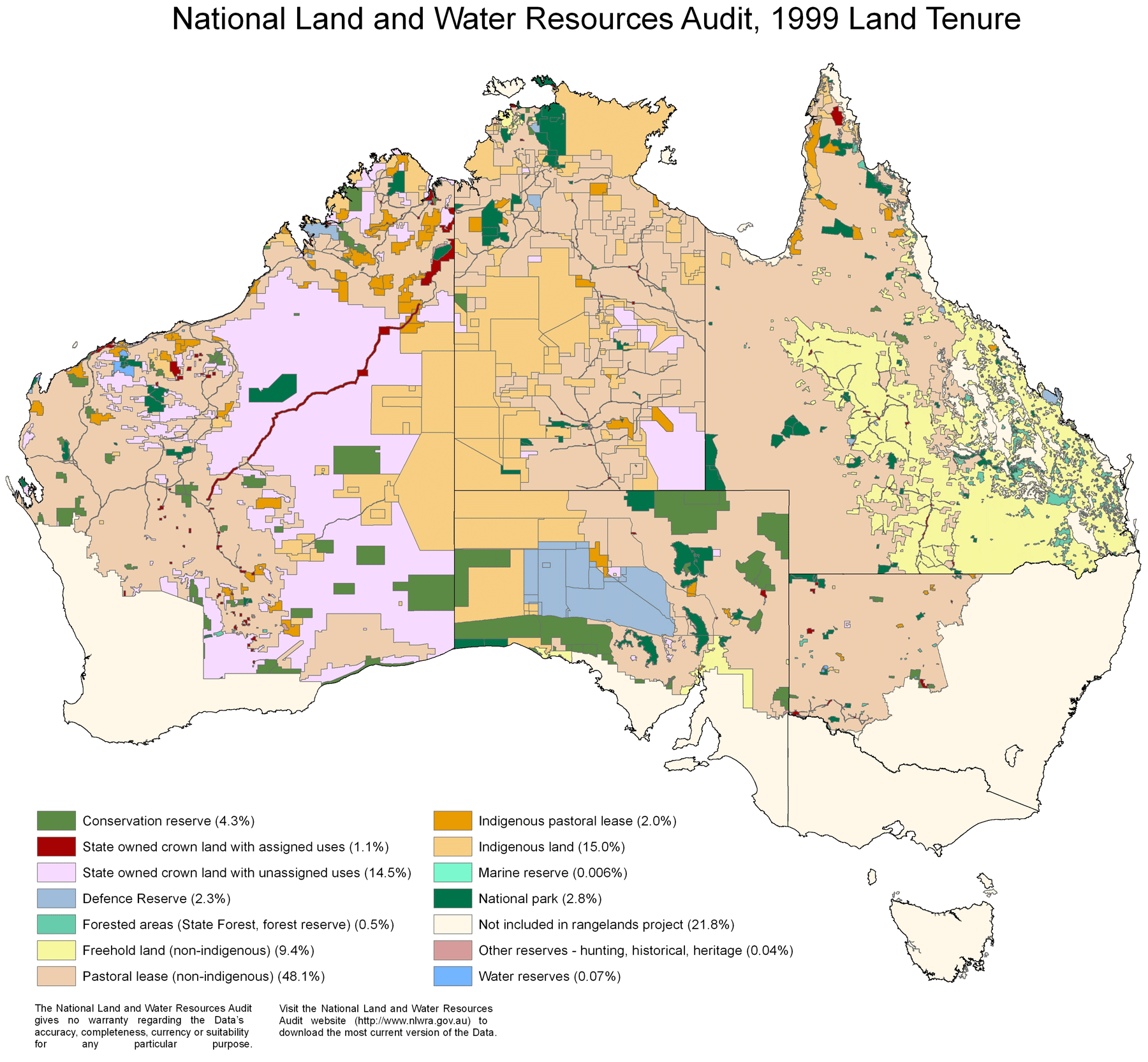 Land And Water Resource Map of Australia
