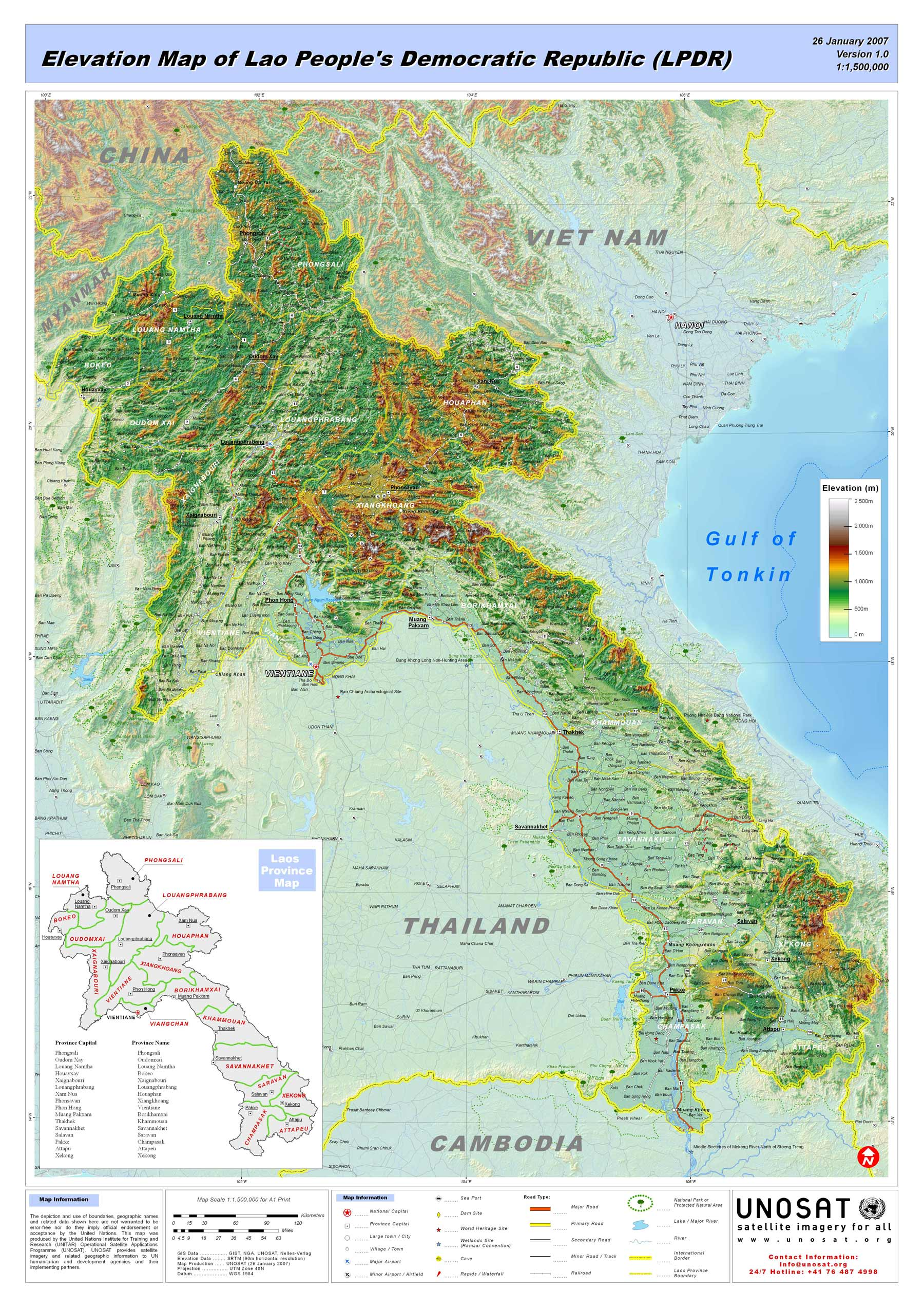 Laos Big Map Mapsofnet
