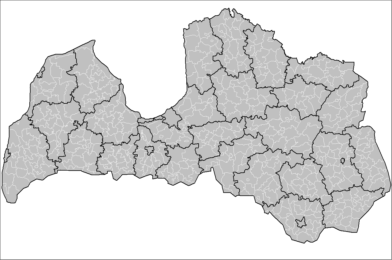 Latvia Local Governments large map