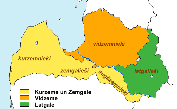 Latvian Regions And Latvians large map