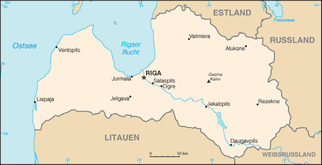 Lettland large map