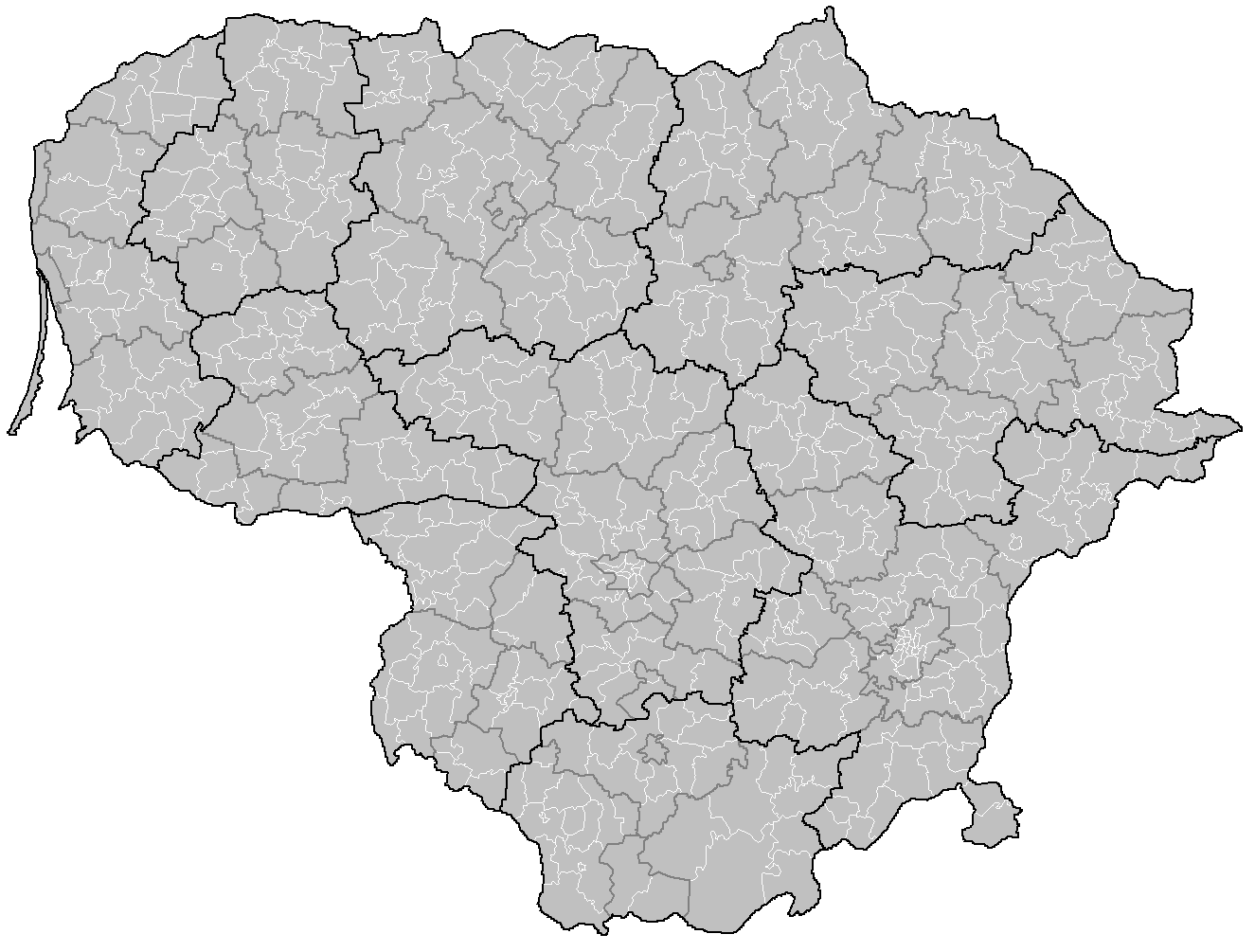 Lithuania Elderships Mapsofnet