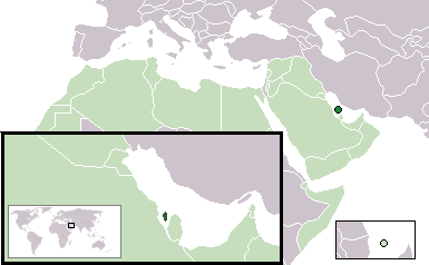 Location Bahrain Aw large map