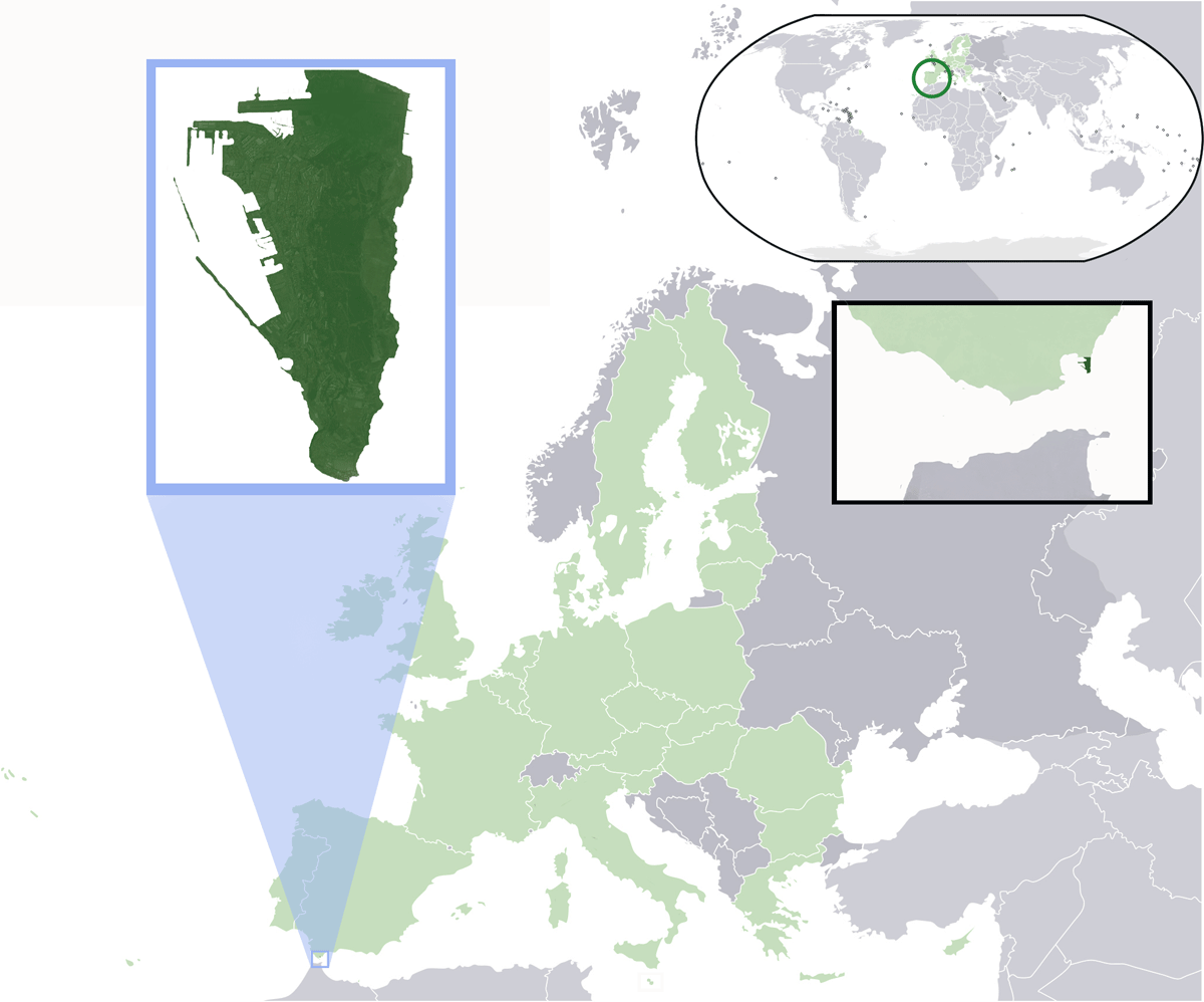 Location Gibraltar Eu large map