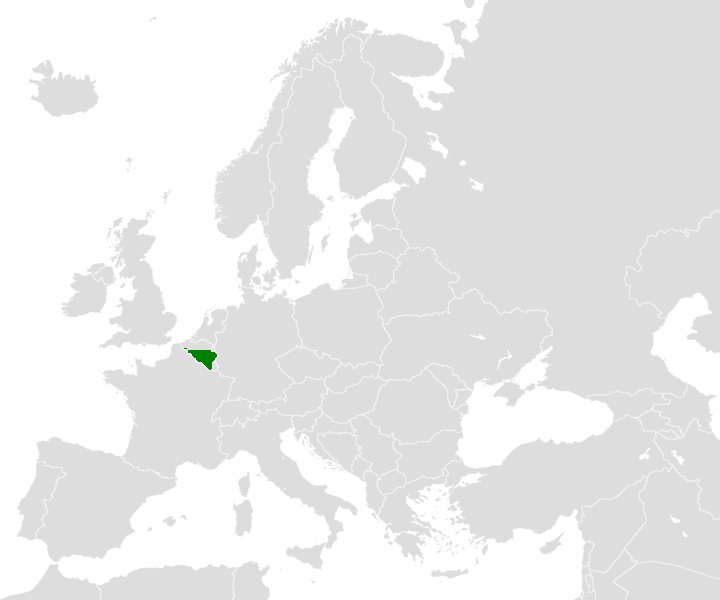 Location Map For Wallonia In Europe Mapsofnet