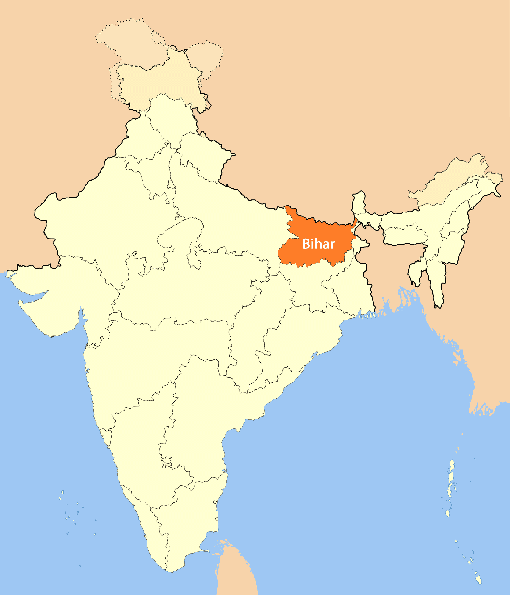 Location Map of Bihar