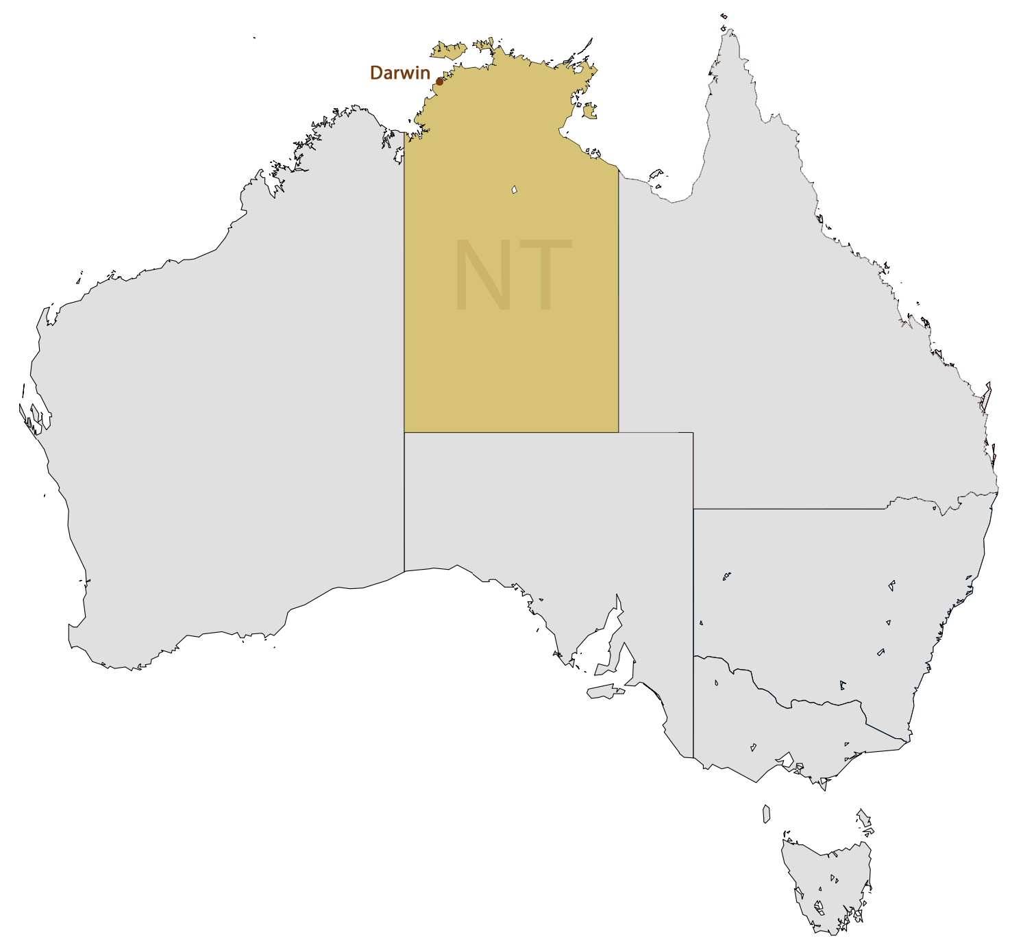 Location Map of Darwin Mapsofnet