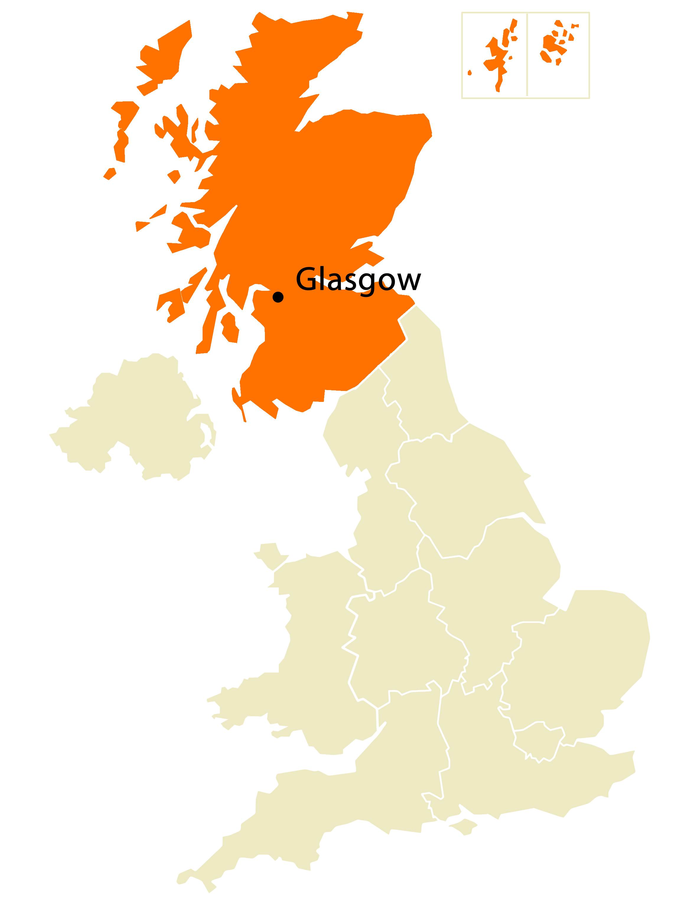Location Map of Glasgow large map