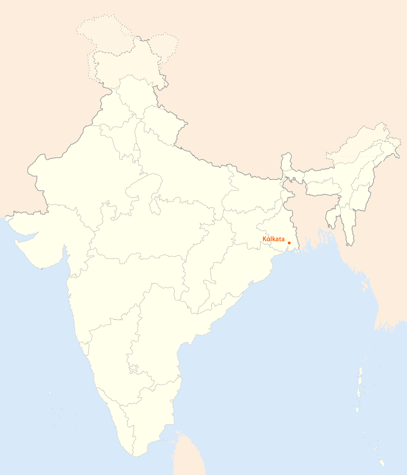 Location Map of Kolkata
