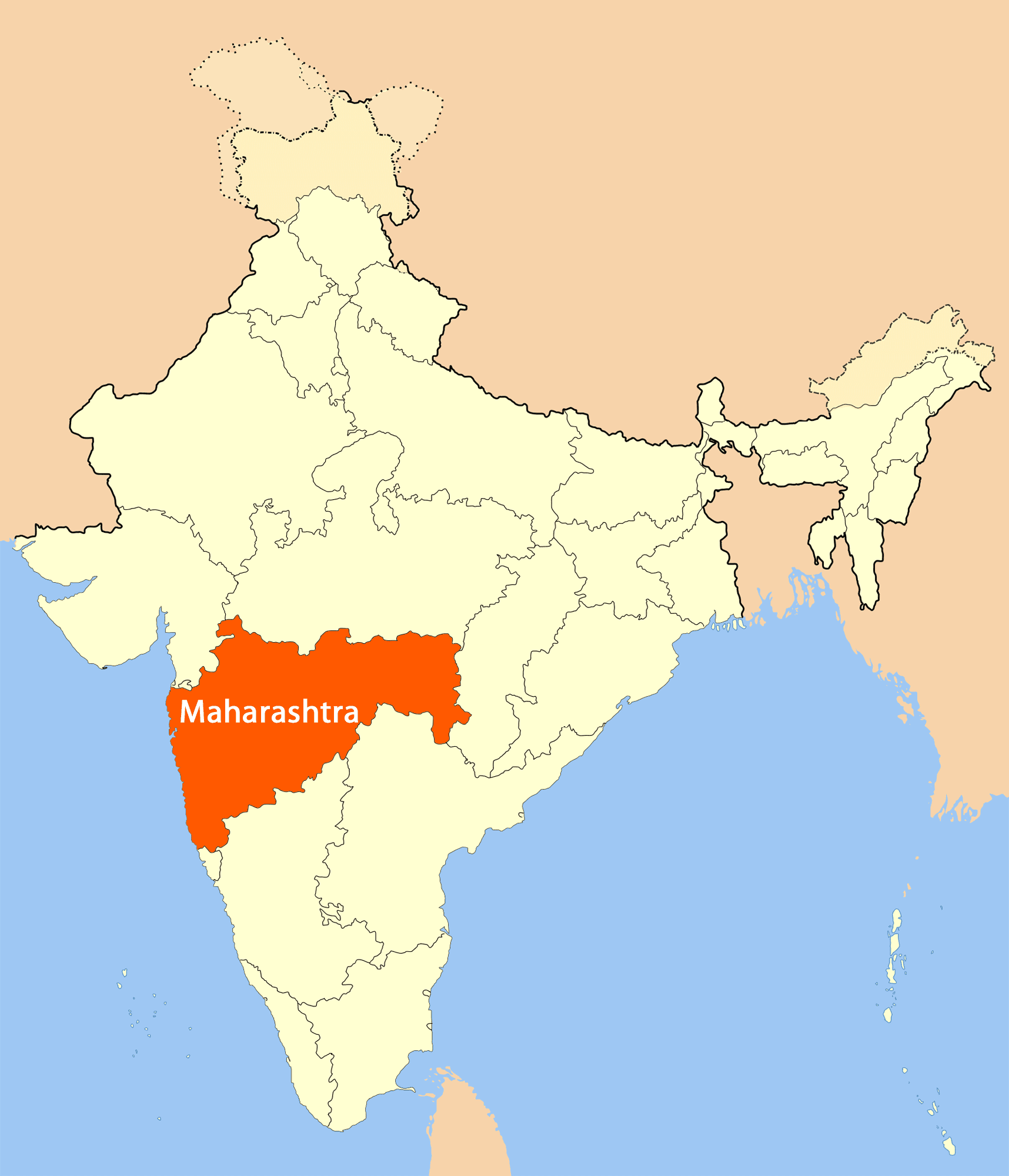 Location Map of Maharashtra MapsofNet Map