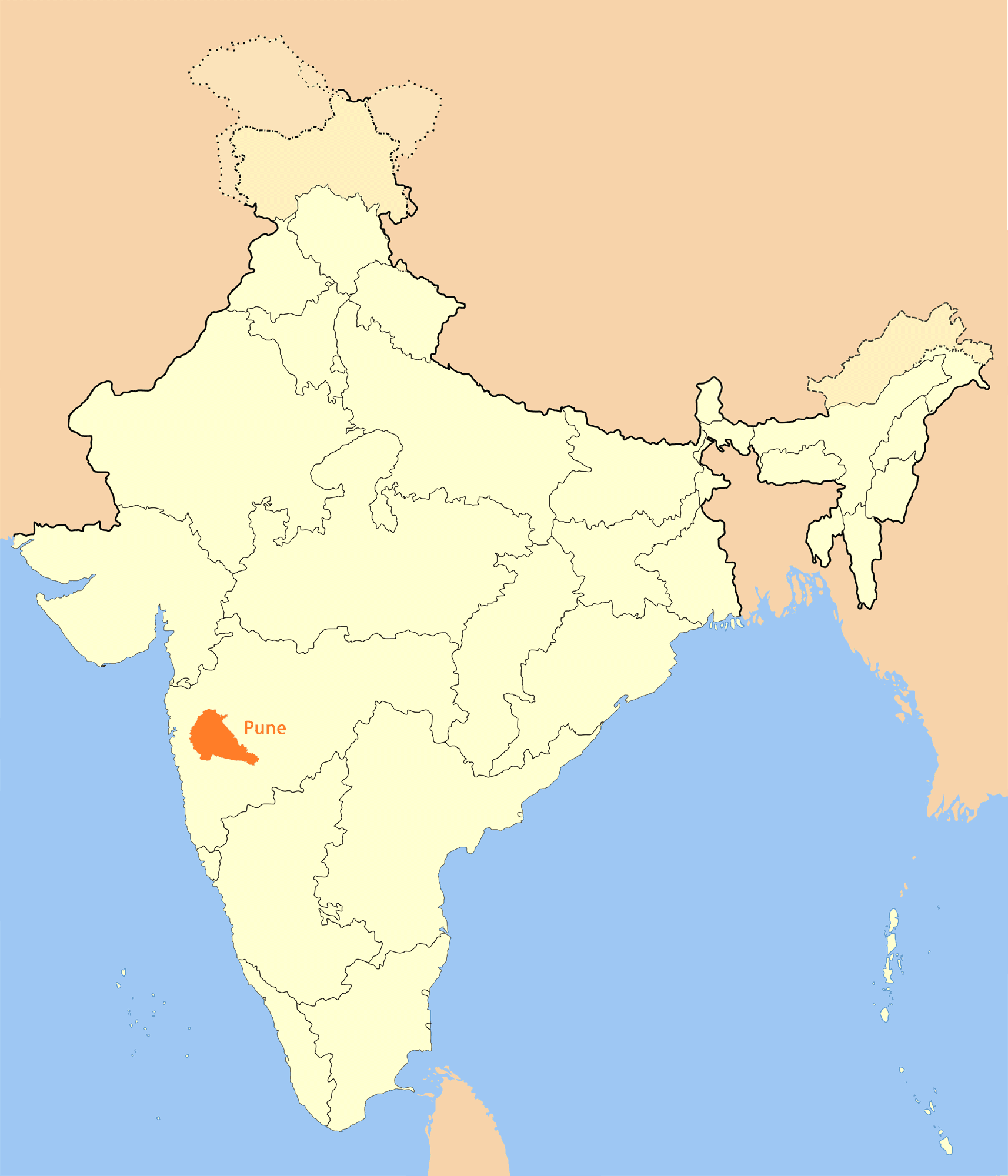 Location Map of Pune