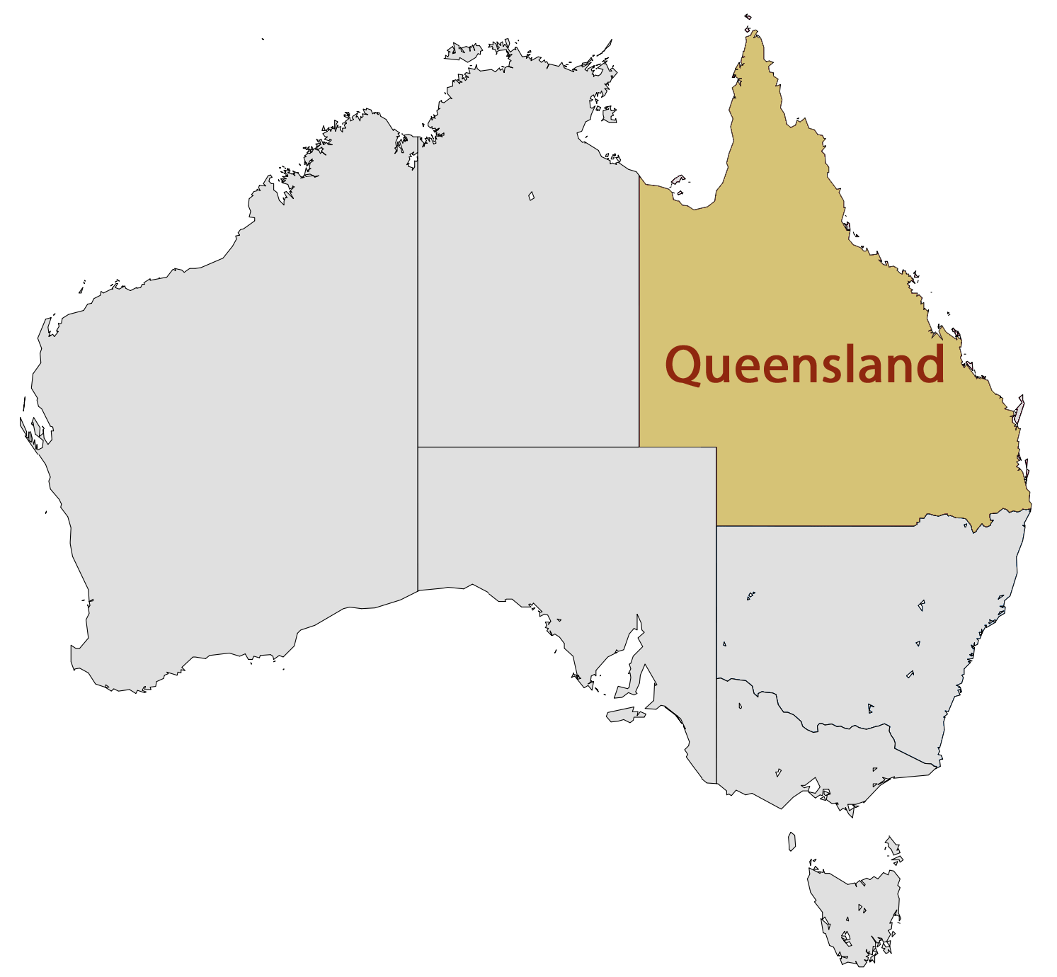 queensland map coloring pages - photo#23