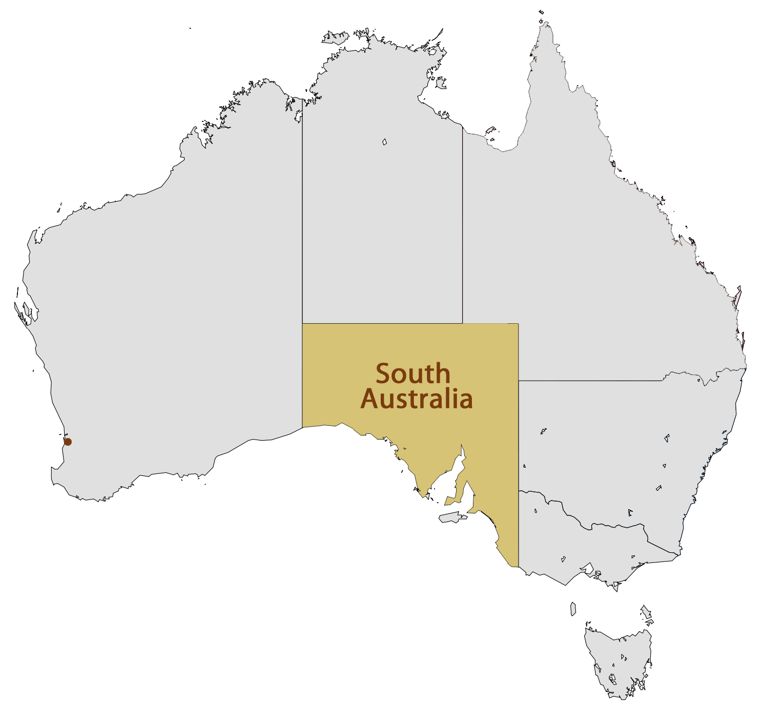 Location Map of South Australia Mapsofnet