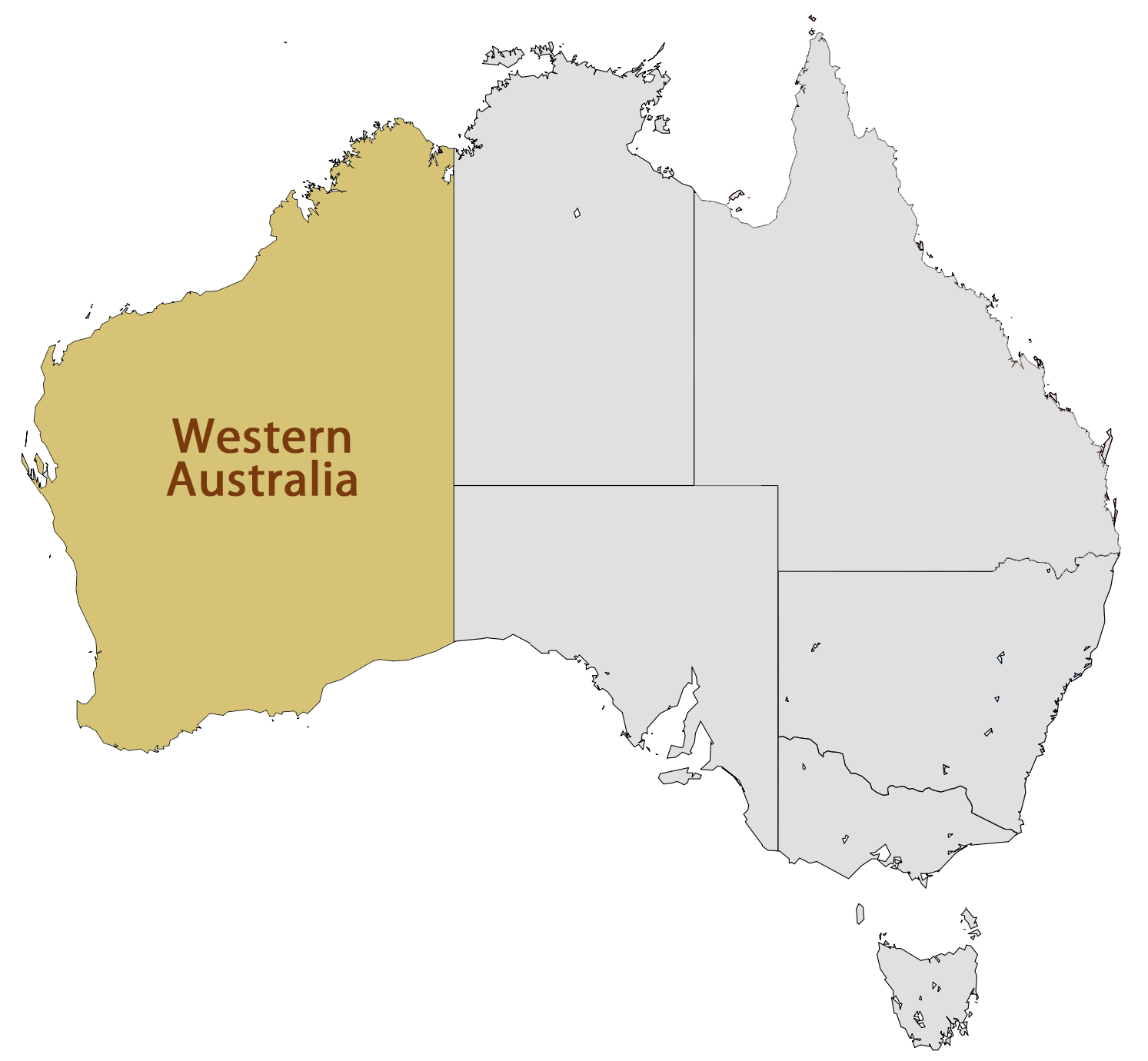 Location Map of Western Australia Mapsofnet
