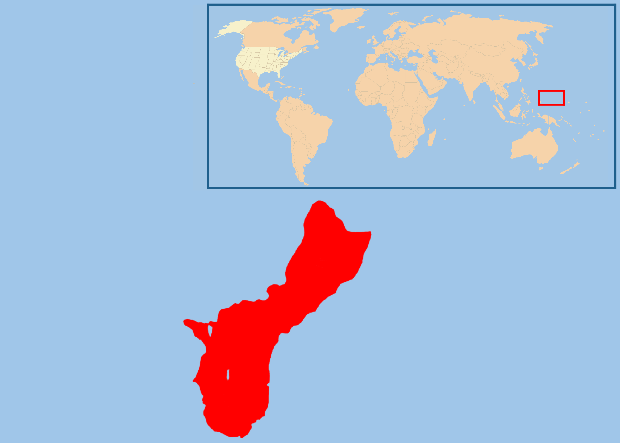 Location Map Of Guam Mapsof Net