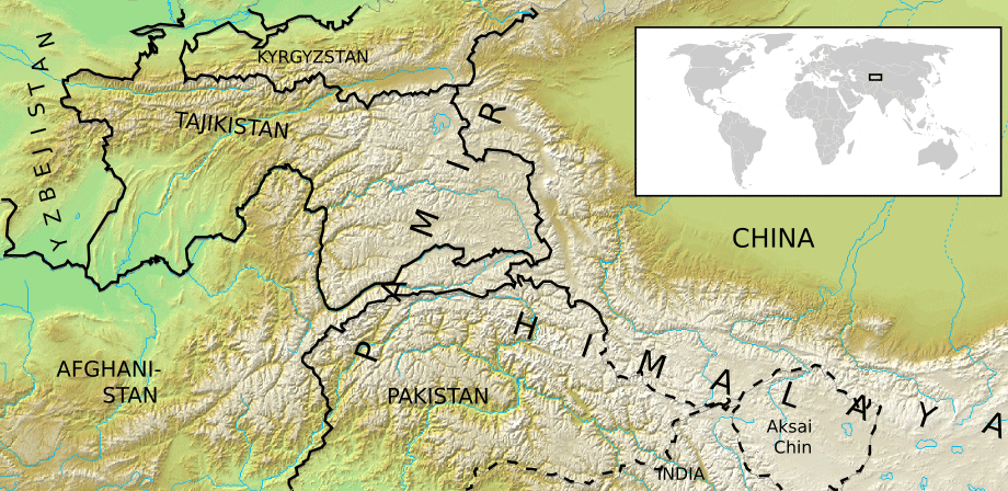 Location Map Pamir Mhn Mapsofnet