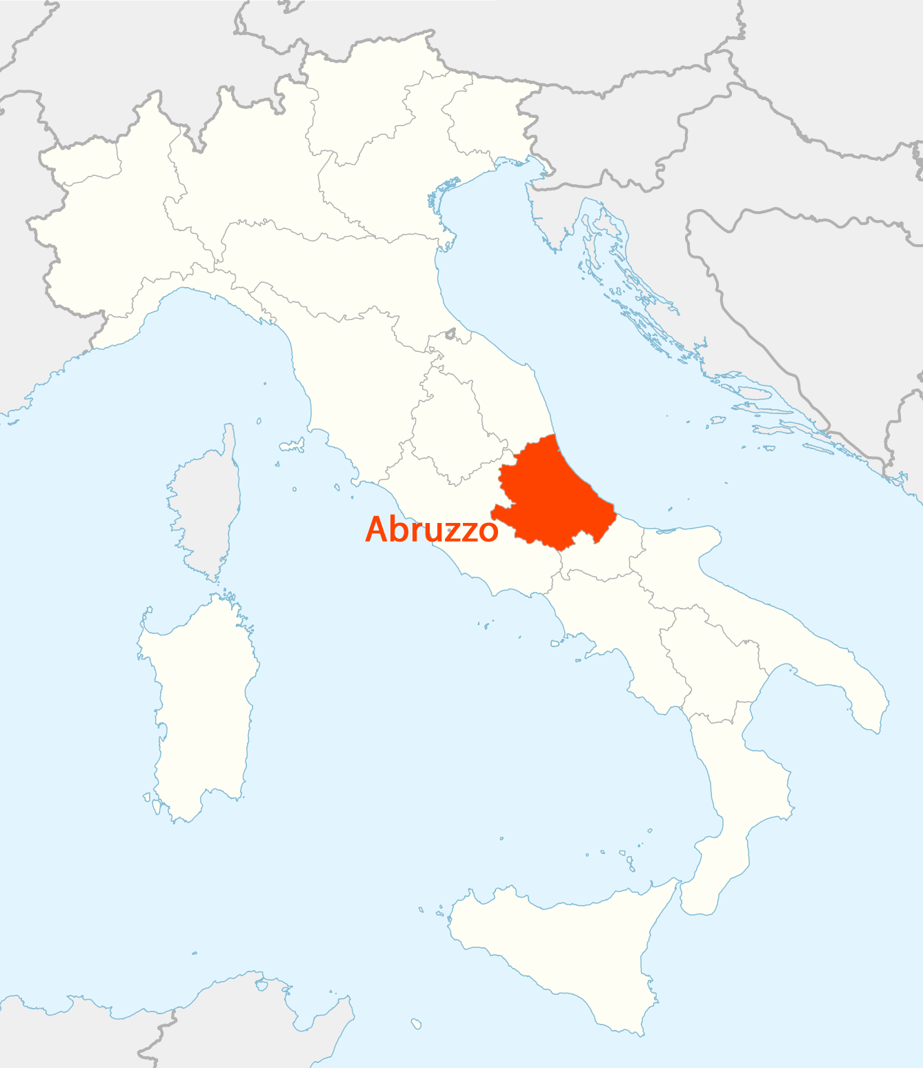 Picture of: Location Of Abruzzo Map Mapsof Net