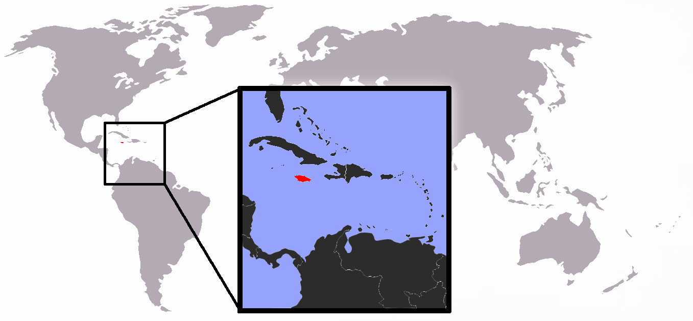 Location of Jamaica Mapsofnet